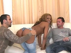 David Perry and hunk Voodoo are enjoying a full hardcore along hot ebony Kaylyn Carter