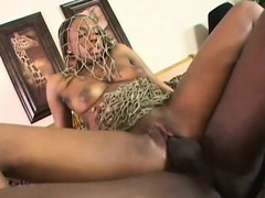 Nasty black babe backs her juicy ass onto a throbbing member