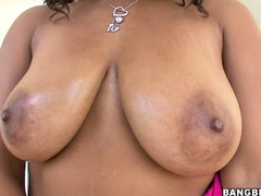 Stacie Lane's delicious sloppy chocolate gazongas offer milky goodness