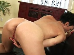 Sexy mature woman Inka in singular action