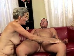 Aliz with huge jugs gets her throat pumped full of pole in cock sucking action with hot guy